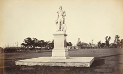 Statue of Sir William Peel in the Eden Gardens [Calcutta]